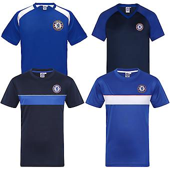 Chelsea FC Mens T-Shirt Poly Training Kit OFFICIAL Football Gift
