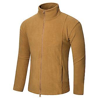Allthemen Men's Fashion Solid Loose Casual Zipper Long Sleeve Jacket