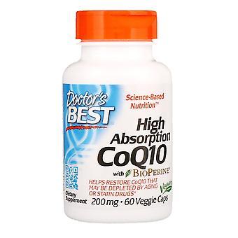Doctor's Mejor, CoQ10 de alta absorción con BioPerine, 200 mg, 60 Cápsulas Vegetarianas