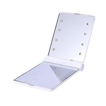 Makeup Mirror With 8/16 Leds Cosmetic Mirror With Touch Dimmer Switch Battery Operated Stand For Tabletop Bathroom