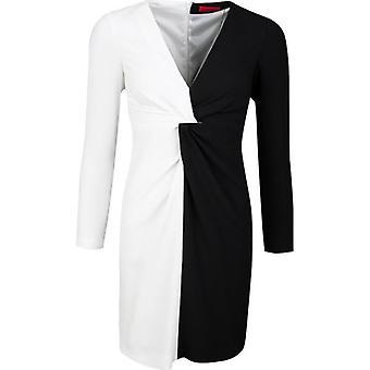שמלת בוס קובאני עם שרוול ארוך מונוכרום