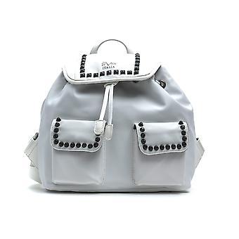 Chain border white mini backpack - 19v69 italia