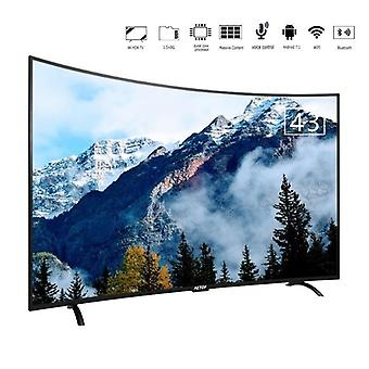 Alta calidad Ultra Hd Android Televisión 43 pulgadas Led Tv Smart Screen Tv Curvado con Bluetooth