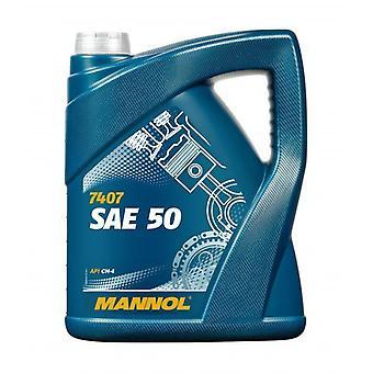 Mannol 5L Engine Oil Classic Low De détergent Mineral Oil SAE 50 API CH-4