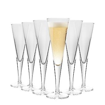Bormioli Rocco Ypsilon Glass Champagne Flutes Set - 110ml - Pack of 6