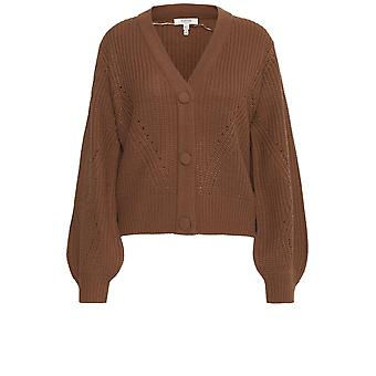 b.young Melissa Brown Knit Cardigan
