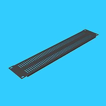 2u Refrigeración Rack ciego Brida perforada Placa de montaje del panel