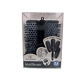 "Olivia Garden Multibrush Detachable Thermal Styling Brush Kit 4 x 1 3/8"" (36 mm)"