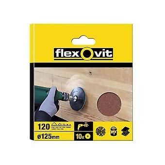 Flexovit Furadeira Discos Montáveis 125mm Médio 80g (Pacote de 10) FLV26382