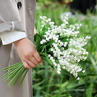 Artificial Lily Of The Valley Fake Flowers Arrangement Bouquet Pack