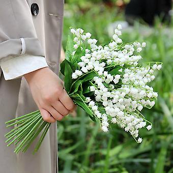 kunstig lilje av dalen falske blomster arrangement bukett pakke