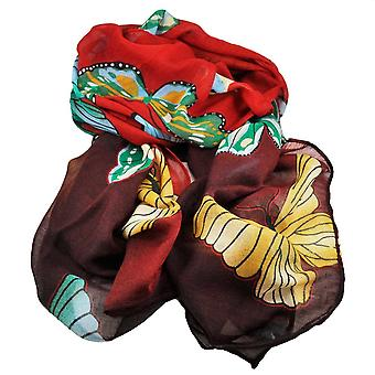 Ties Planet Butterfly Animal Print Red & Black Lightweight Women's Shawl Scarf