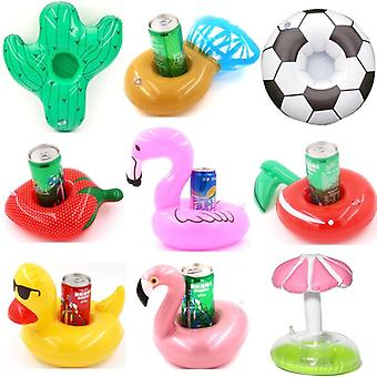 Mini Fanny Inflatable Flamingo Floating Drink Cup Holder Piscine Bain