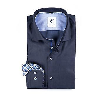 R2 Herringbone Navy Shirt Navy
