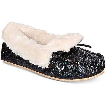 Des Concepts International INC Womens Yeldie fausse fourrure fermée orteil Slip sur chaussons