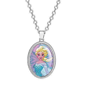 Children's Frozen Princess Elsa Oval Pendant Necklace
