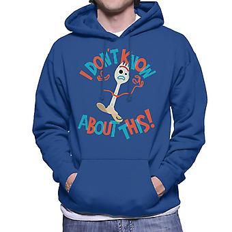 Pixar Toy Story Forky I Dont Know About This Men's Hooded Sweatshirt