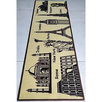 World Theme Alfombras/alfombras de área antideslizante
