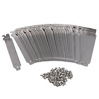 50PCS PC Anti Dust Bracket Ruffled PCI Slot Cover w/ Screw Stainless Steel