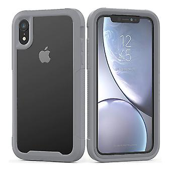 Stoff zertifiziert® Stoßstange Fall mit Rahmen für iPhone 6 S - Anti-Shock Case Cover TPU grau