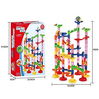 Bead Model Building Blocks, Construction Marble Run Ball, Roller Coaster Toy
