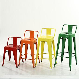 Restaurant Cafe Square Stuhl Zinn Metall Stuhl Hocker Eisen stühle