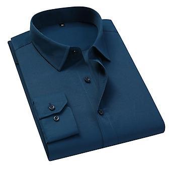 Män Enfärgad Business Shirt, Casual Slim, Långärmad