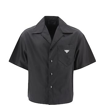 Prada Sc4491wq8f0002 Men's Black Nylon Shirt