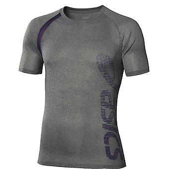 Asics MotionDry Performance Multi Graphic Mens Tee Grey Top 113983 0773 A91E