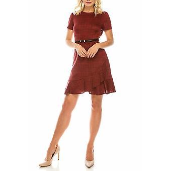 Plaid Ruffled Dress