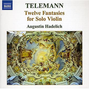 G.P. Telemann - Telemann: 12 Fantasies for Solo Violin [CD] USA import