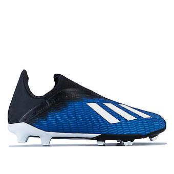 Boy's adidas Junior X 19.3 FG Football Boots in Blue