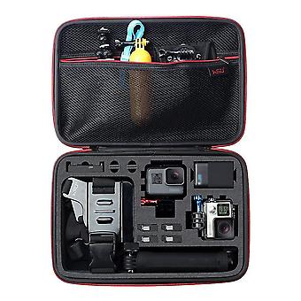 Hsu protective carry case (large) sponge interior for gopro hero 8/7/6/5/4/3+ and accessories large