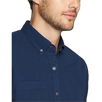 Goodthreads Men's Standard-Fit Kurzarm Seersucker Shirt, solide Marine,...