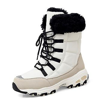 Women's Ankle High Snow Boots 2110 Beige