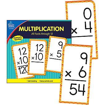 Multiplicación Todos los Hechos a través de 12 Tarjetas Flash