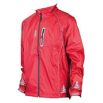 Eigo Delta impermeable ciclismo chaqueta amapola rojo
