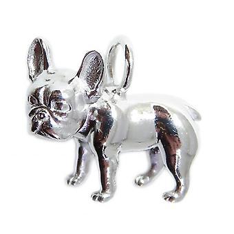 Ciondolo d'argento sterling bulldog francese .925 X 1 Ciondoli Bulldogs - 8565