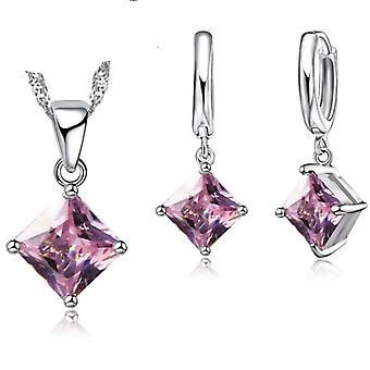 925 Sterling Silver Women Accessories Earrings Jewelry Set