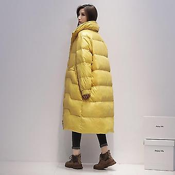 Lange Jacke Frauen Ente Down Parka Wintermantel