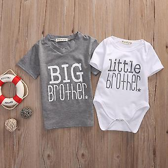 Neue kleine Bruder Baby Top 2-7Years Strampler und Big Brother T-shirt Sommer