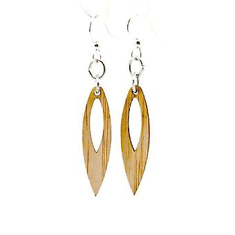 Pointed Drop Bamboo Earrings