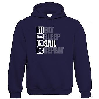 Spis Sleep Sail Repeat Hoodie - Jolle Yachting Katamaran