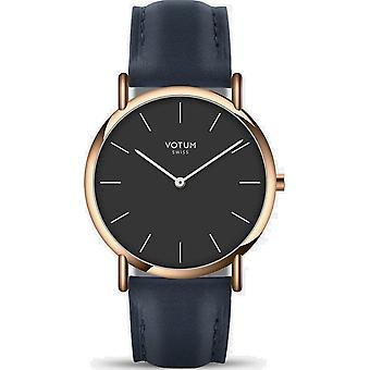 VOTUM - Reloj de señora - SLICE SMALL - PURE - V05.20.20.02 - correa de cuero - azul