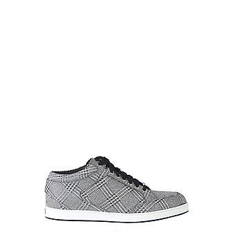 Jimmy Choo Miamipgwsilver Kvinder's Sølv læder sneakers