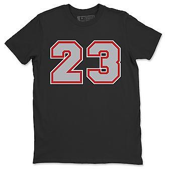 Nummer 23 Jordan 1 Rök Grå Sneaker T-Shirt - AJ1 Sko Match Outfit