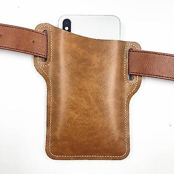 Men Cellphone Loop Holster Case Belt Waist Bag Props Pu Leather Purse Wallet