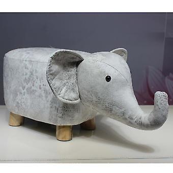 Fashion Calf Stool Elephant Hippo Bench Shoes Bench Wood Animal Stool