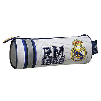 Real Madrid CF Childrens/Kids Official Embroidered Cylindrical Pencil Case