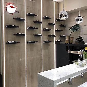 Barre de cuisine d'étagère d'étagère d'affichage de support monté de mur de rouille jamais